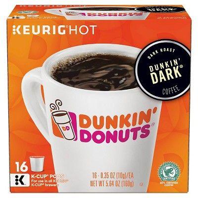 Dunkin' Donuts Dark Roast Coffee - Keurig K-Cup Pods - 16ct