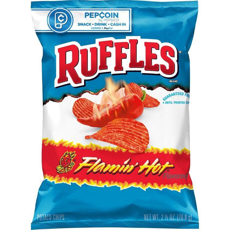 Ruffles Flamin Hot Potato Chips - 2.5oz, Adult Unisex