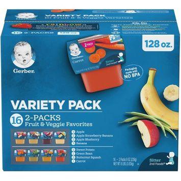 Gerber 2nd Foods Fruit & Veggie Baby Food Variety Pack - 4oz/16pk Each