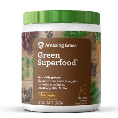 Amazing Grass Green Superfood Vegan Powder - Chocolate - 8.5oz