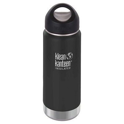 Klean Kanteen 16oz Wide Insulated Bottle with Loop Cap - Shale Black