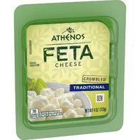 Athenos Crumbled Traditional Feta Cheese - 4oz