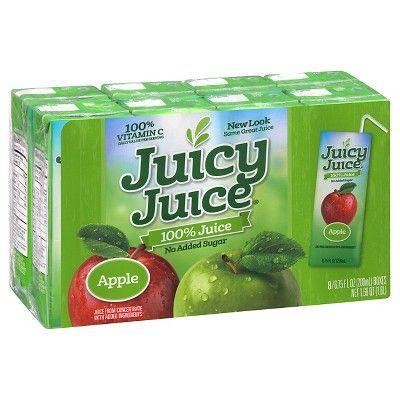 Juicy Juice Slim Apple 100% Juice - 8pk/6.75 fl oz Boxes