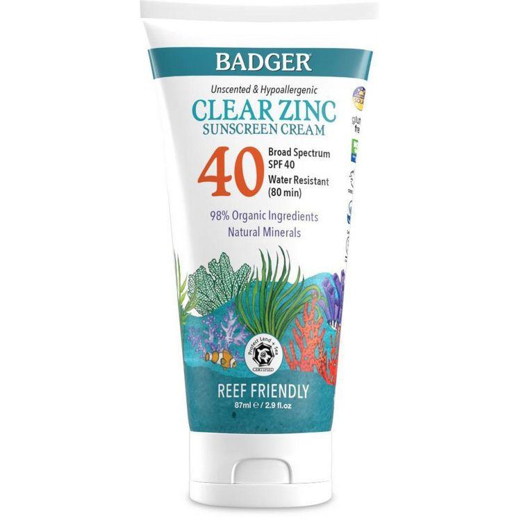 Badger Sport Mineral Sunscreen Cream - SPF 40 - 2.9 fl oz