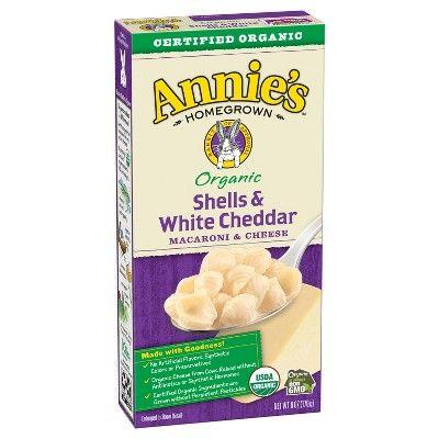 Annie's Homegrown Organic Macaroni & Cheese Shells & White Cheddar - 6oz
