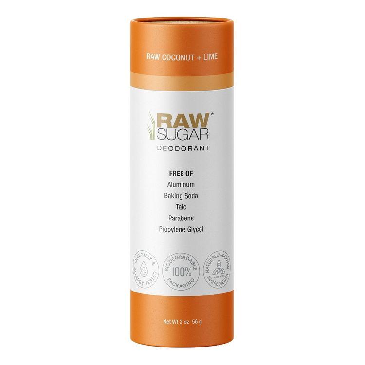 Raw Sugar Deodorant Raw Coconut + Lime - Trial Size - 2oz