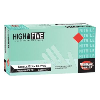 High Five Nitrile Exam Gloves Blue - S - 100ct/2pk