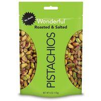 Wonderful Roasted & Salted Shelled Pistachios - 6oz