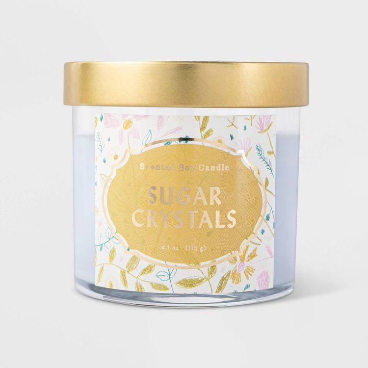 4.1oz Lidded Glass Jar Sugar Crystals Candle - Opalhouse