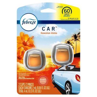 Febreze Car Freshener - Hawaiian Aloha - 0.13oz