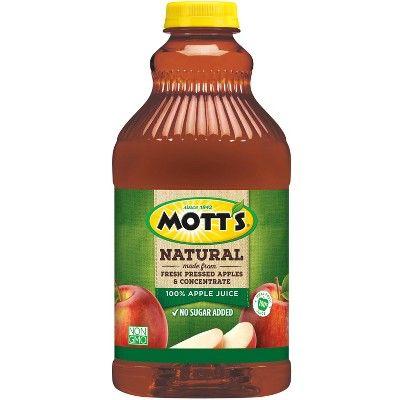 Mott's Natural 100% Apple Juice - 64 fl oz Bottle
