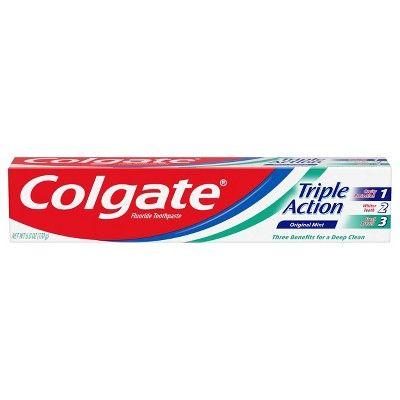Colgate Triple Action Toothpaste Mint - 6oz