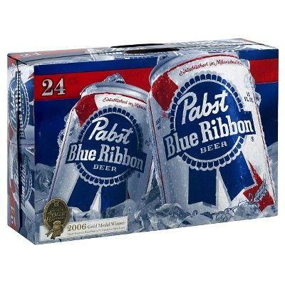 Pabst Blue Ribbon Beer - 24pk/12 fl oz Cans