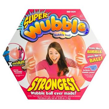 The Amazing SUPER Wubble Bubble Ball with Pump - Red