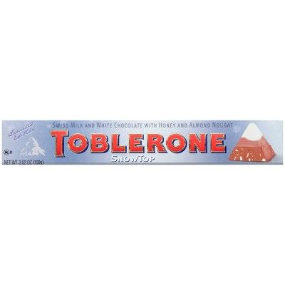 Toblerone Snowtop Swiss Milk & White Chocolate Bar - 3.52oz