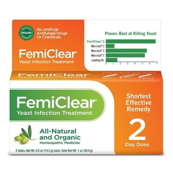 FemiClear 2 Day Dose Yeast Infection Treatment - 1oz