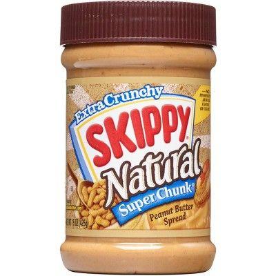 Skippy Natural Super Chunk Peanut Butter - 15oz