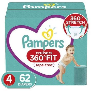 Pampers Cruisers 360 Disposable Diapers Super Pack - Size 4 (62ct)