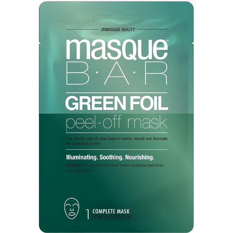 Masque Bar Green Foil Peel Off Mask Facial Treatments - .71 fl oz
