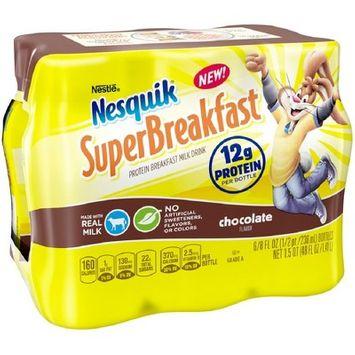 Nesquik Super Breakfast Chocolate Milk - 6pk/8 fl oz Bottles