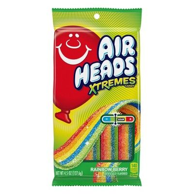 Airheads Extremes Rainbow Berry Sour Candy - 4.5oz