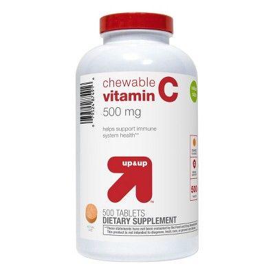 Up & Up Vitamin C Chewable Tablets - Orange Flavor - 500ct - Up&Up