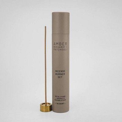 50pc Incense Burning Set Amber - Bergamot & Patchouli - Project 62™