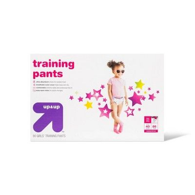 Up & Up Girls' Training Pants 3T-4T - 86ct - Up&Up