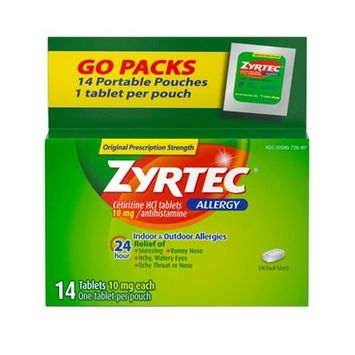 Zyrtec 24 Hour Allergy Relief Tablets - Cetirizine HCl - 14ct