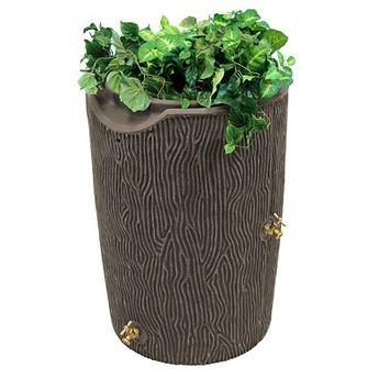 Impressions Bark 50 Gallon Rain Saver - Oak - Good Ideas