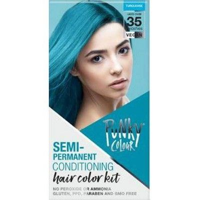 Punky Colour Semi-Permanent Hair Color Kit, Turquoise