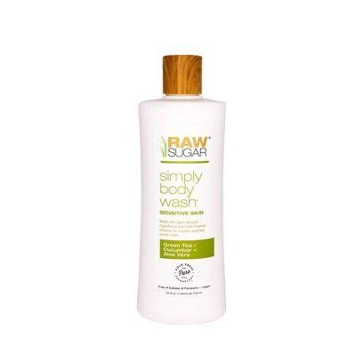 Raw Sugar Skin Green Tea + Cucumber + Aloe Vera Sensitive Body Wash - 25 fl oz