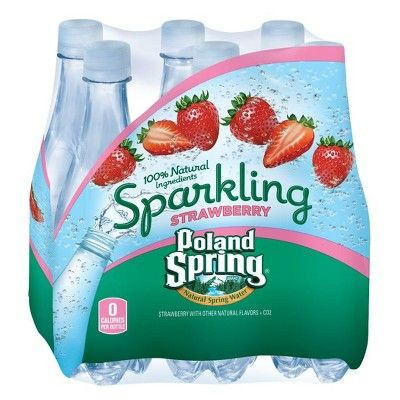 Poland Spring Strawberry Sparkling Water - 6pk/16.9 fl oz Bottles