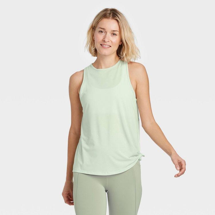 Women's Side-Tie Tank Top - All in Motion Green S