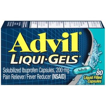 Advil Liqui-Gels Pain Reliever/Fever Reducer Liquid Filled Capsules - Ibuprofen (NSAID) - 80ct
