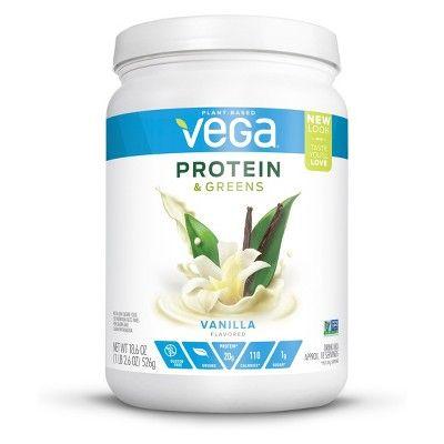 Vega Protein and Greens Vegan Drink Mix - Vanilla - 18.6oz