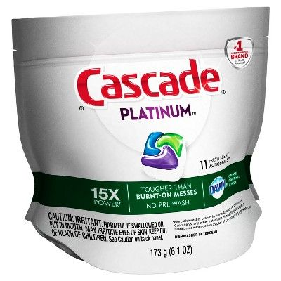 Cascade® Platinum™ ActionPacs™ Dishwasher Detergent, Fresh Scent, 11ct