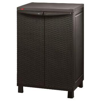 Space Basic Base Rattan Utility Storage Cabinet - Brown - Keter