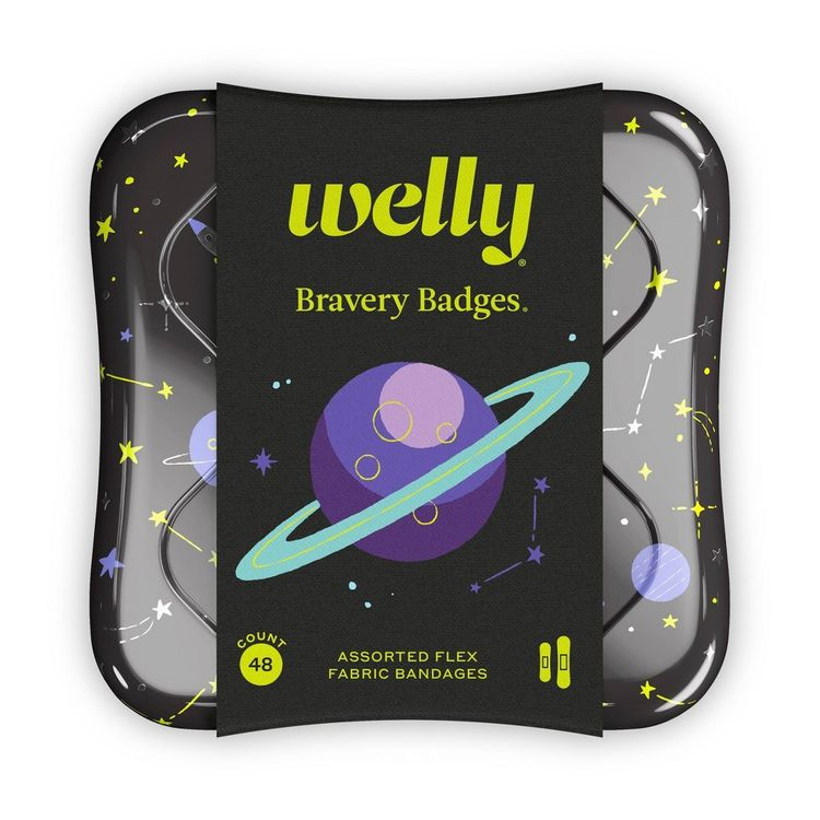 Welly Flex Fabric Bandages Space - 48ct