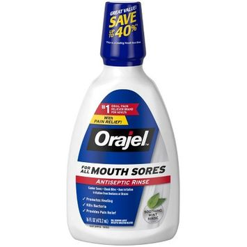 Orajel™ For All Mouth Sores Antiseptic Rinse