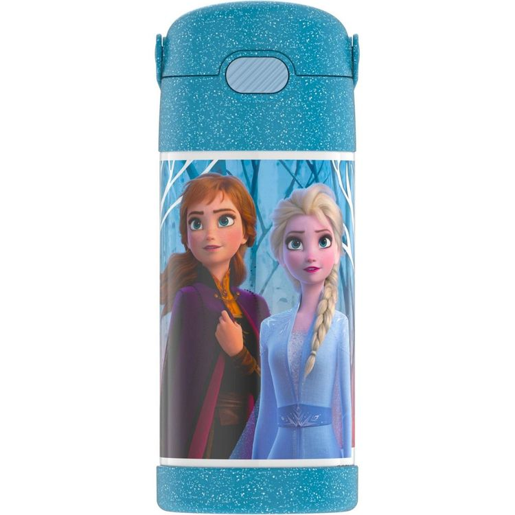 Thermos Frozen 2 12oz FUNtainer Water Bottle with Bail Handle - Blue Glitter