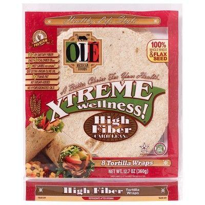 Ole Xtreme Wellness High Fiber Low Carb Tortilla Wraps 8 ct (12.7 oz)