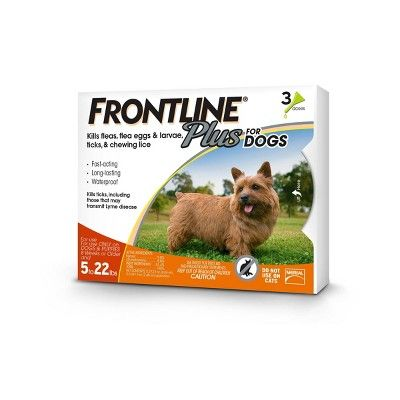 Frontline Plus Pet Insect Treatment for Dogs - Small Dogs - 3 doses