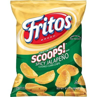 Fritos Spicy Jalapeno Scoops Corn Chips - 9.25oz