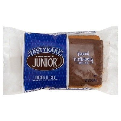 Tastykake Chocolate Junior Yellow Layer Cakes - 3oz