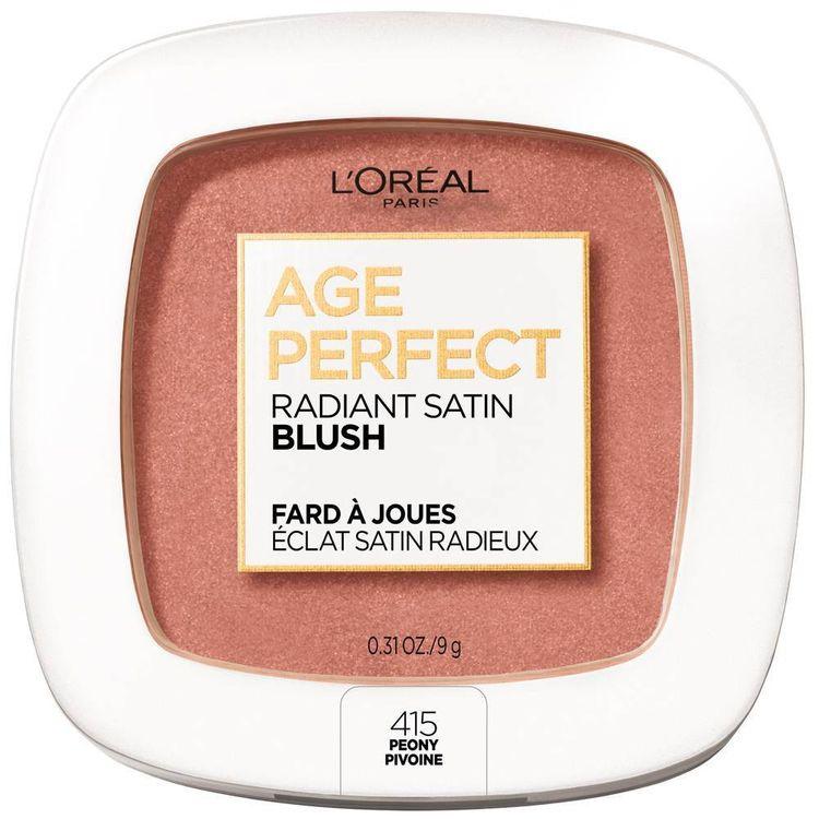 L'Oreal Paris Age Perfect Radiant Satin Blush Peony - 0.31oz