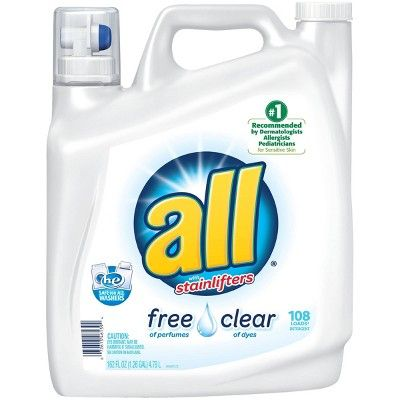 All Free & Clear Liquid Laundry Detergent 162 oz