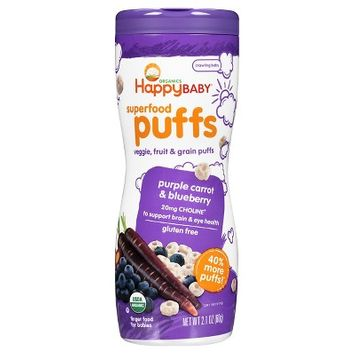 Happy Baby® Organics Superfood Puffs Purple Carrot & Blueberry