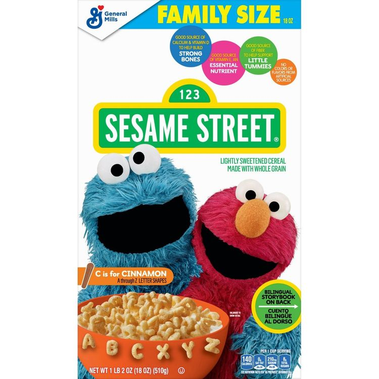 Sesame Street C is for Cinnamon Family Size Cereal - 18oz - General Mills