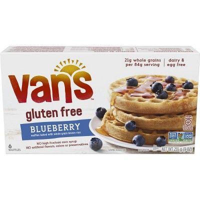 Van's Gluten Free Whole Grain Frozen Blueberry Waffles - 9oz
